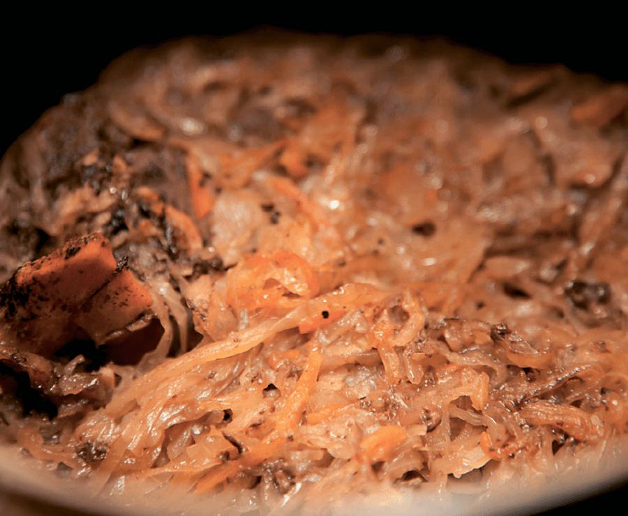 Косуля с квашеной капустой