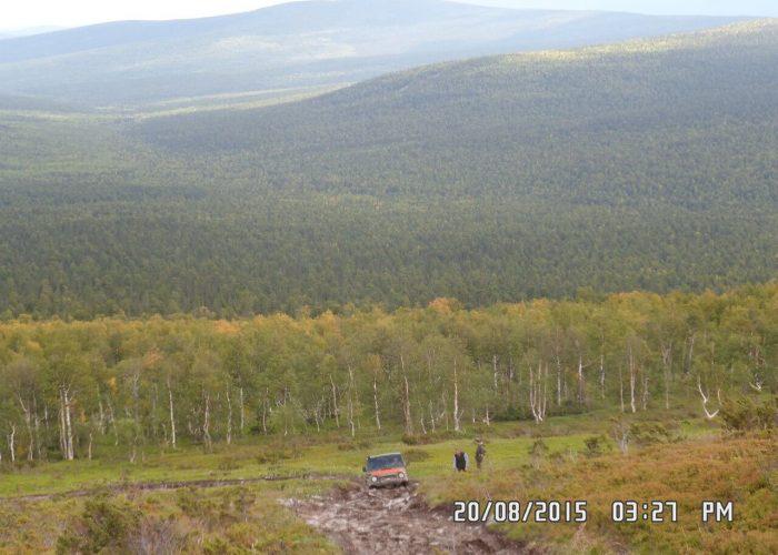 Последний сложный подъём перед перевалом Дятлова