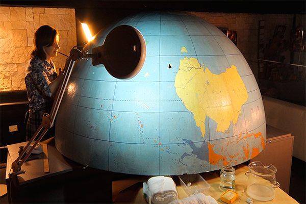 Реставрация глобуса в Перми