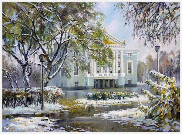 Малышева Любовь Викторовна (Россия, 1965) «Первый снег в парке»