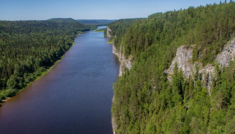 Достопримечательности Красновишерска – скалы и Вишера