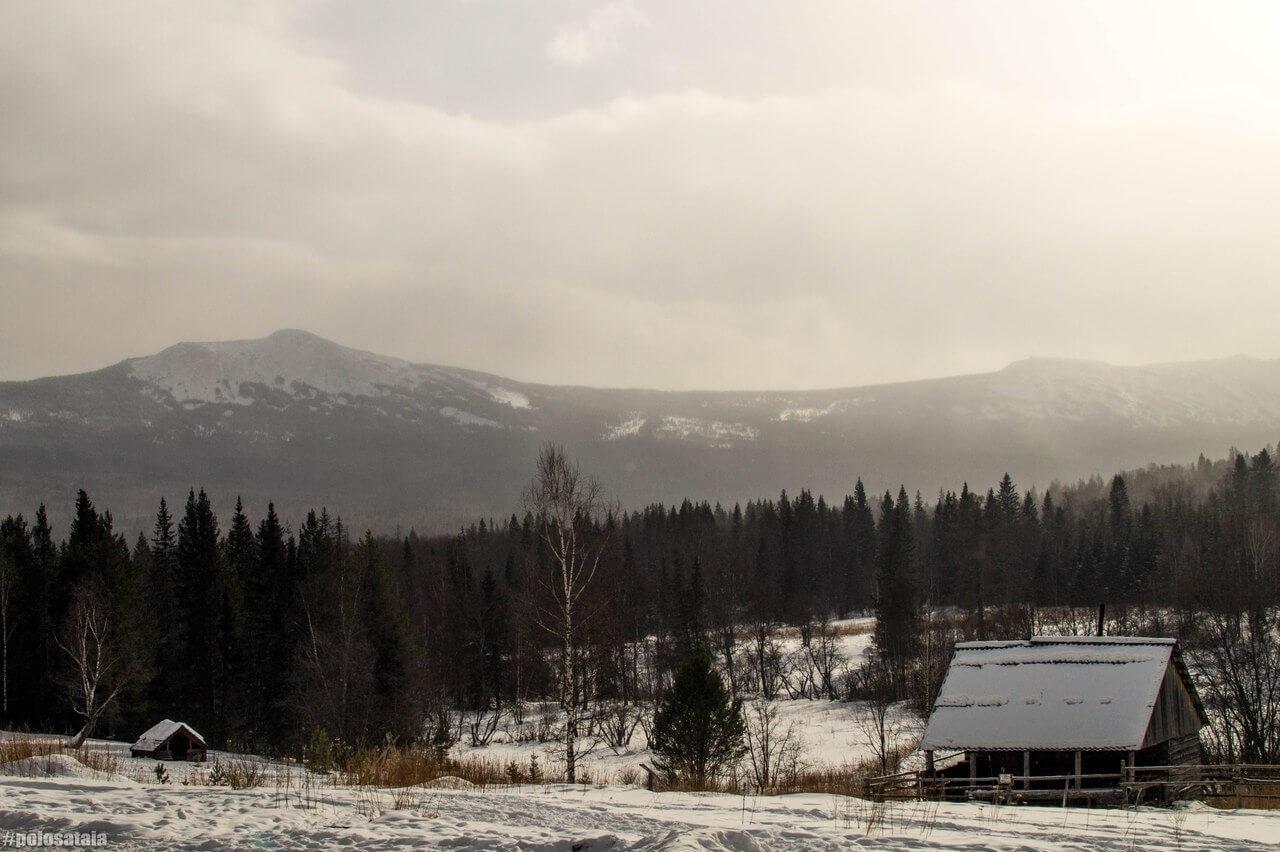 Южный Урал, Зима, Зюраткуль, Челябинская область, Башкирия, Кордон «У трех вершин»