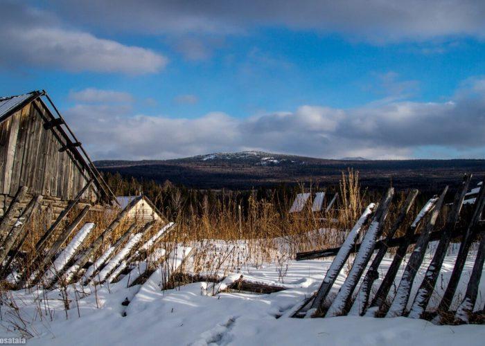 Южный Урал, Зима, Зюраткуль, Челябинская область, Башкирия, Поселок Сибирка