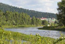 Река Инзер в окрестностях села Ассы, Башкортостан
