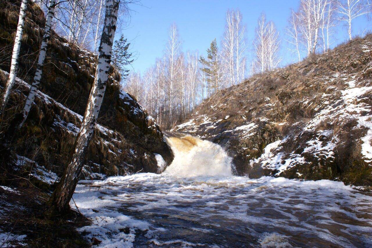 Шатский водопад, Свердловская область