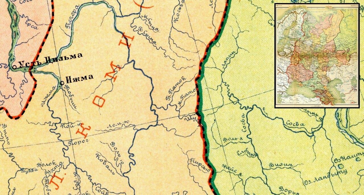 1928 г. Атлас СССР, Европейская часть