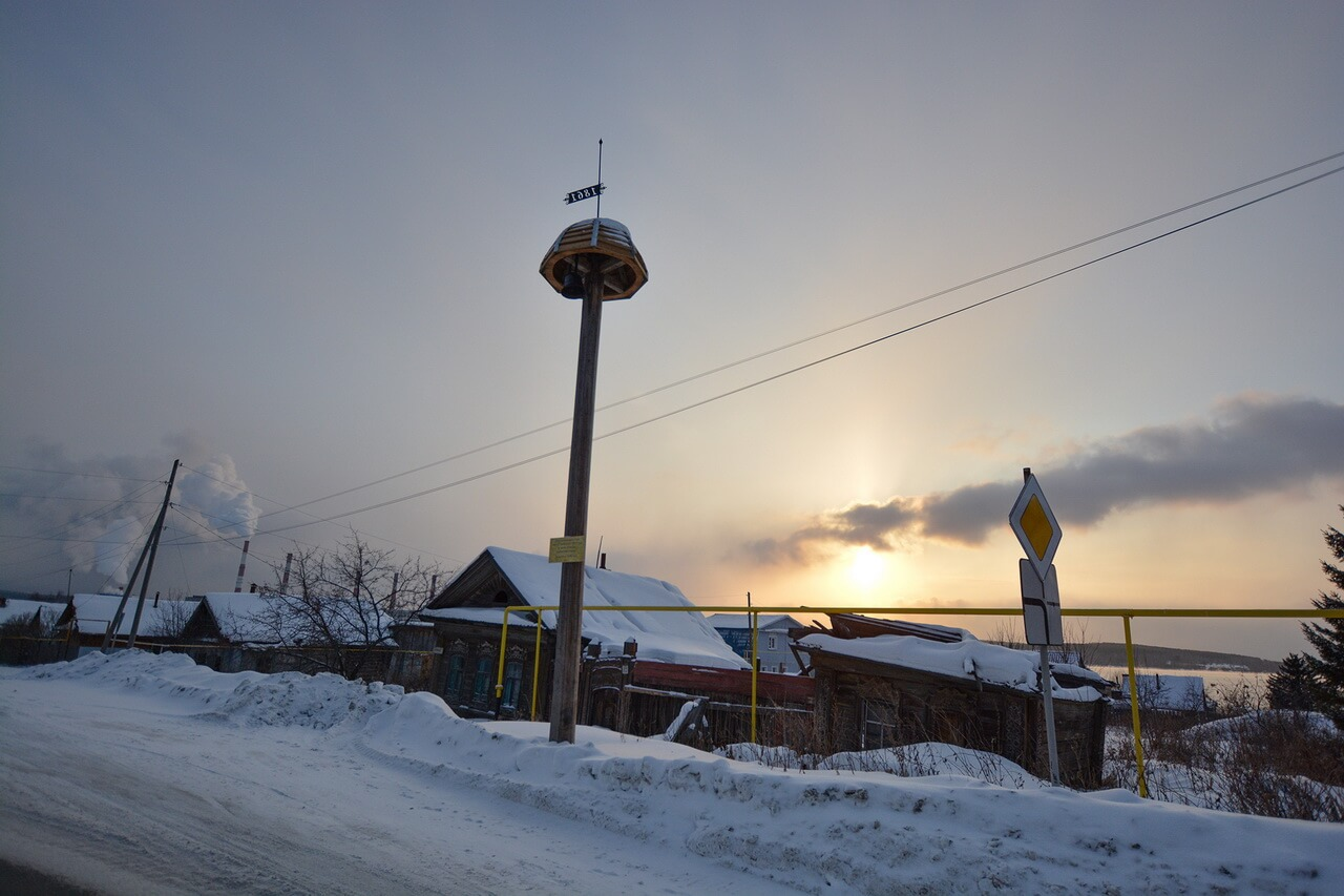 Сигнальный столб в Верхнем Тагиле