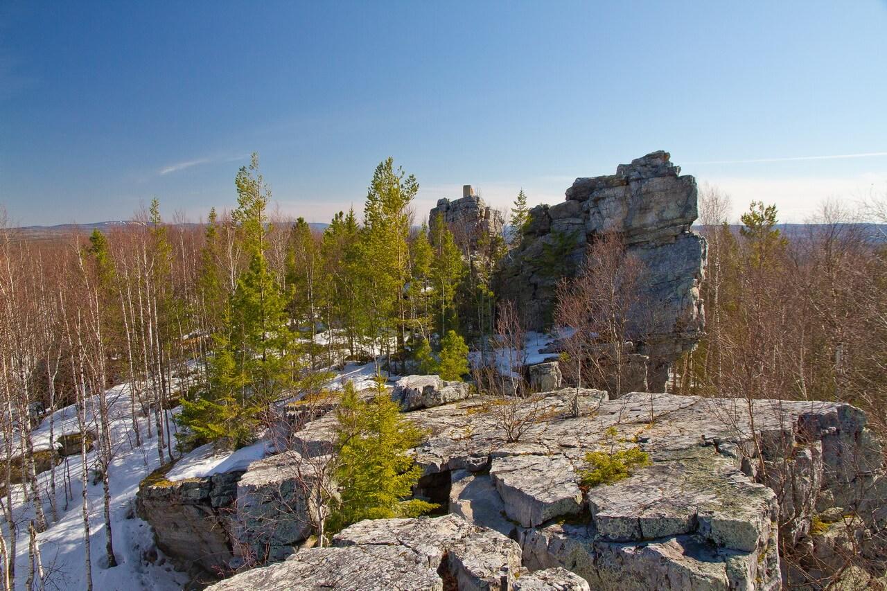 Скала Кораблик, гора Синяя, Хребет Синие Горы, Свердловская область