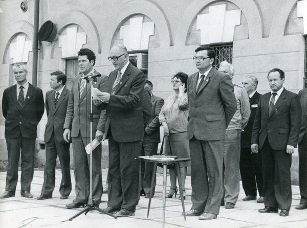 Открытие памятника паровозу, 17 августа 1984 года.