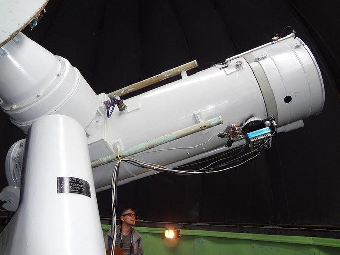 Cамый старый в России телескоп-рефлектор (Коуровская обсерватория). Автор фотографии: alisa.1324