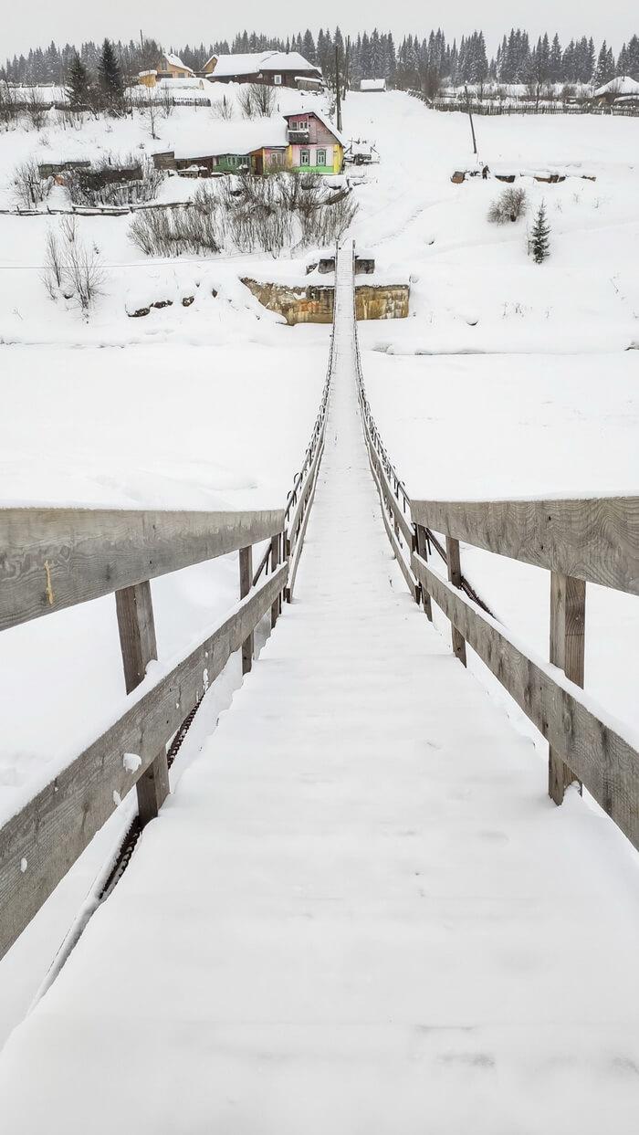 Подвесной мост через Койву