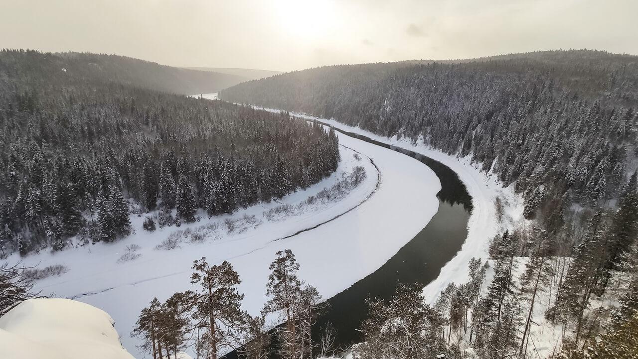 Излучина реки Чусовой