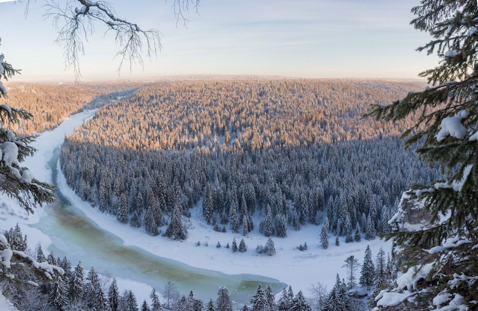 Усьвинские столбы, Усьва, Пермский край, Зима на Урале
