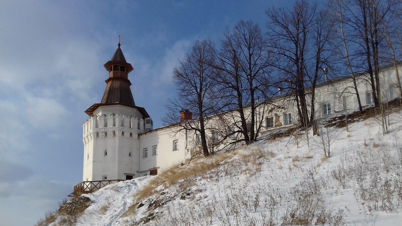Вид с моста, Верхотурье, Меркушино, храмы Свердловской области