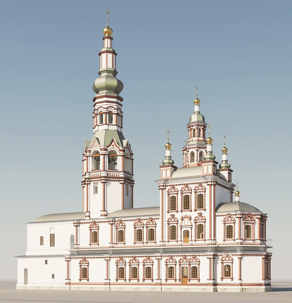 Предтеченская церковь проект 2012 года, Верхотурье, Меркушино, храмы Свердловской области