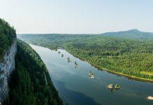 Камень Ветлан на реке Вишера, Пермский край