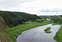 Вид на Липино, Река Реж