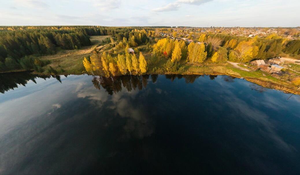 Волчанская буроугольная копь или озеро Большое