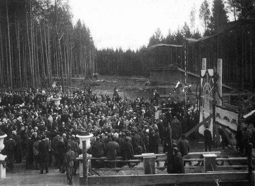 Закладка здания УГИ, 1916 г