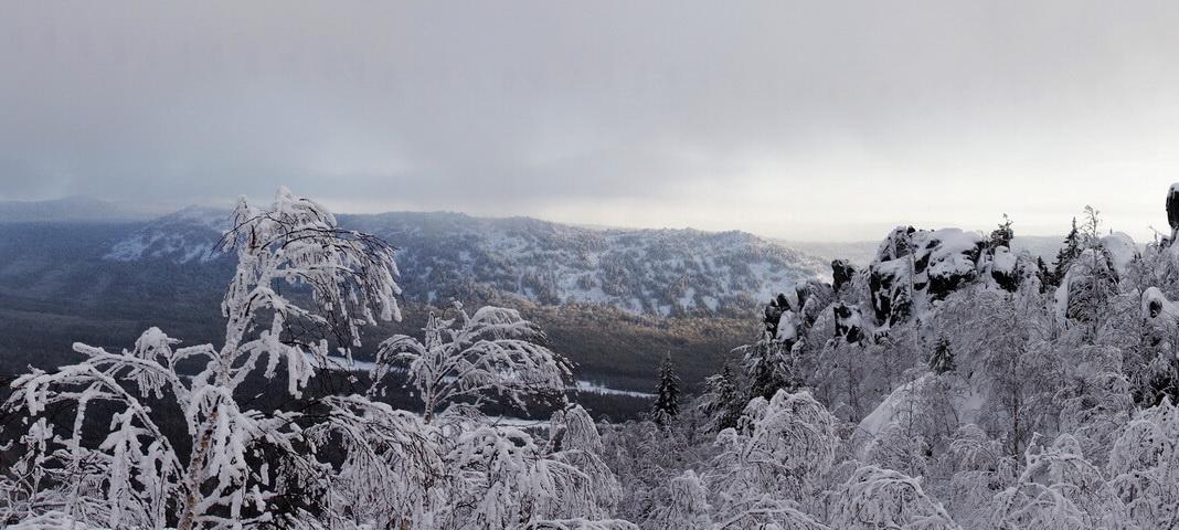 Зимний Таганай: Двуглавая сопка