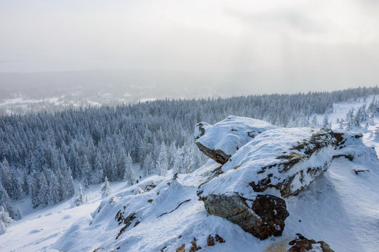 Зюраткуль, Челябинская область, Южный Урал, Зима на Урале